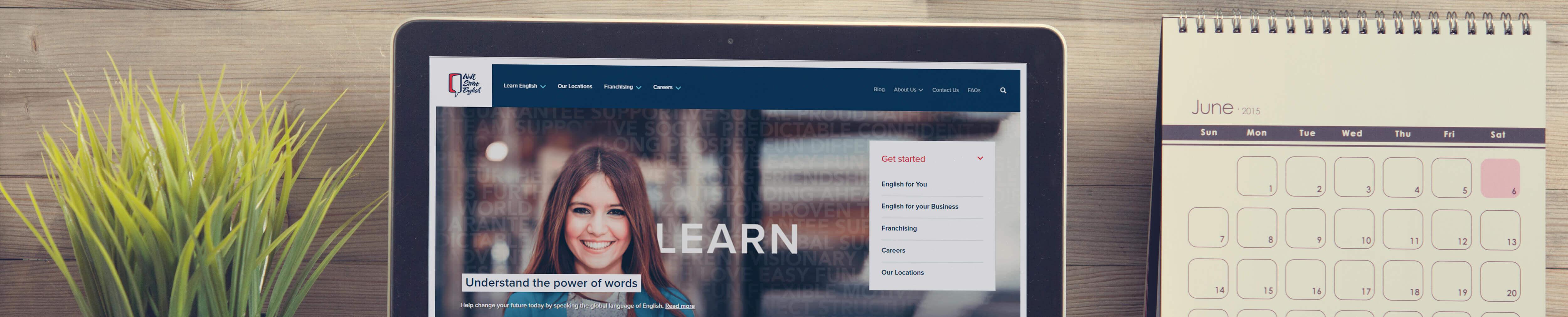 Mockup of Wall Street Russian website